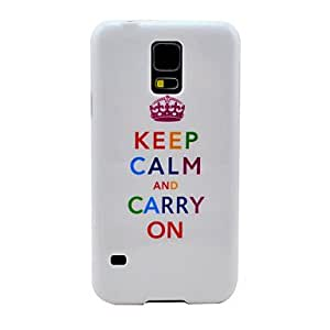 JOEKeep Calm and Carry on Pattern Hard Case Cover for Samsung Galaxy S5 I9600