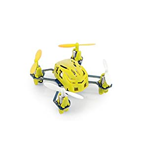 HUBSAN H111 Nano Q4 4-Channel 6 Axis Gyro Mini RC Quadcopter with 2.4Ghz Radio System Mode 2 RTF- Carton Case Yellow 31SF4OJV50L