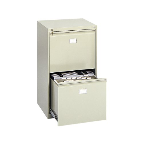 Safco Products 5039 Vertical File Cabinet, 2-Drawer, Tropic Sand