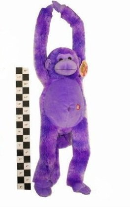 20 Inch Purple/Lilac Long Arms Crazy Monkey with Sound And Velcro Hands (Crazy Monkey)