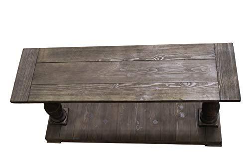 Best Master Furniture FW138 Farryn Rustic Sofa Table, Weather Oak