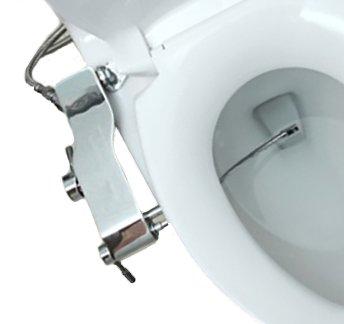 Bidet Full Stainless Steel Fresh Water Spray Non-Electric Mechanical Bidet Toilet Seat Attachment Rim Bidet