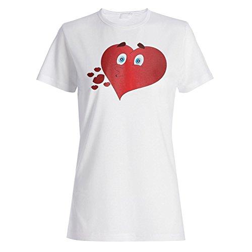 Ich liebe dich Paar Neuheit lustige Vintage Kunst Damen T-shirt yy97f