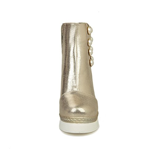 Rain Platform Womens Heel Urethane High 1TO9 Gold Boots Novelty Flatform IRU0Swq