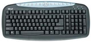 Trust Multimedia Keyboard KB-1150 UK - Teclado (PS/2, QWERTY, 435 x 205 x 30 mm, Windows Me/2000/XP/2003)
