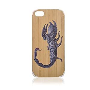 Mini - Scorpion Pattern Bamboo Wood Plastic Hard Protective Case for iPhone 5/5S