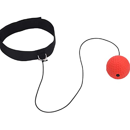 Barlingrock 2019 New Star Boxing Fight Ball Reflex Balls on String with Adjustable Headband Training Speed Reaction Set Punching Focus Head Band Balls Kit for Adults Kids (Best Mountain Bike For Beginners 2019)