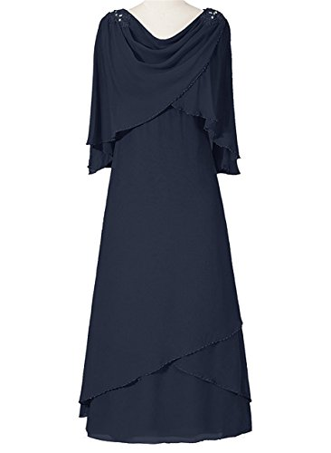 VaniaDress Women Long Evening Dress Formal Gown With Shawl V094LF Navy Blue US6
