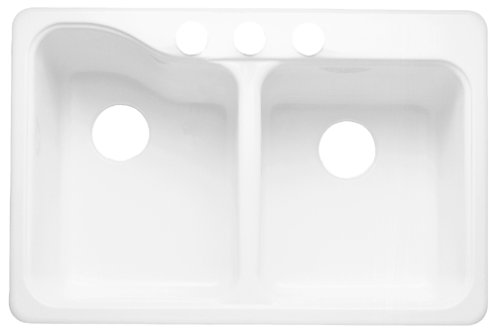 American Standard 7145 804 208 Silhouette 33 By 22 Inch Double Bowl