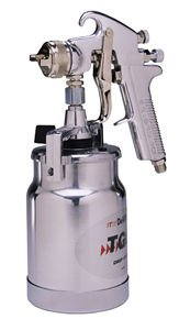 DeVilbiss JGA644 JGA Suction Feed Spray Gun - 1.6mm with One-Quart Cup