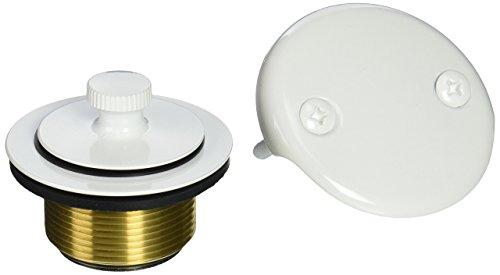 (Westbrass D94K-50 Bath Drain, Powder Coat White, Powder Coat White)