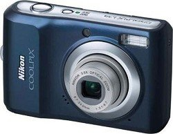 Nikon Coolpix L20 10MP Digital Camera with 3.6 Optical Zoom and 3 inch LCD (Navy Blue)