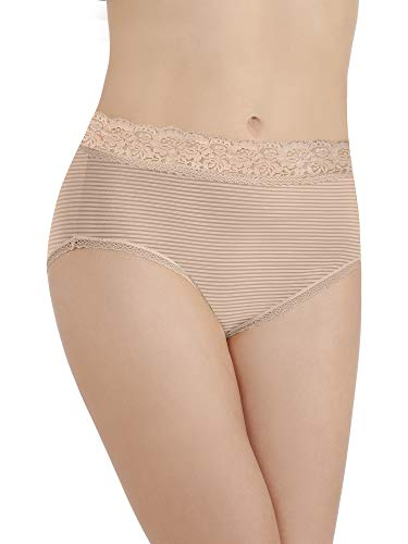 Vanity Fair Women's Flattering Lace Brief Panty 13281, Rose Beige, Large/7 ()