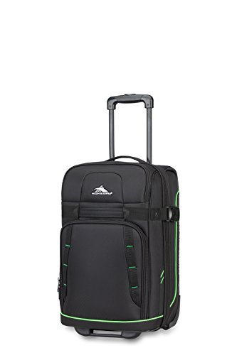High Sierra Evanston Carry On Upright Luggage, Black/Lime Green, -