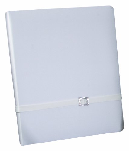 Ivy Lane Design Glamour Wedding Memory Book, White ()