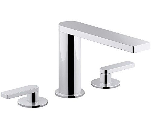 KOHLER Composed K-73060-4-CP Widespread 2-Handle Bathroom Sink Faucet with Metal Drain Assembly in Polished Chrome