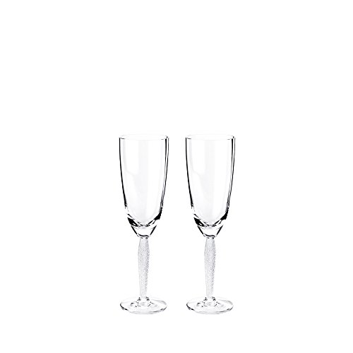 Lalique Louvre Box Of 2 Champagne Glasses by Lalique