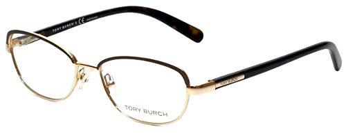Tory Burch Ty1019 Eyeglasses 364 Coconut Gold Demo Lens 52 16 135