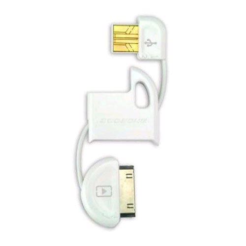 Scosche IPUSBMW flipSYNC Keychain USB Charge and Sync Cable, White
