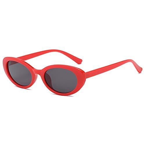 2019 new Oval White Sunglasses female hundred personality small frame sunglasses Hip Hop Glasses