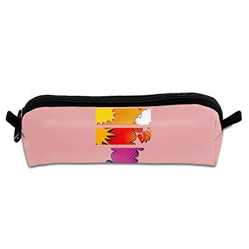 GGlooking Portable Pencil Pouch Bow Simple Zipper Bag,Pen Case Office School Supplies Organizer Stationery Holders