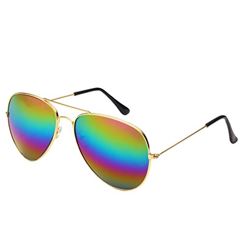 Desen Unisex Adult Aviator Sunglasses (GOLD - Cheap Womens Aviator Sunglasses