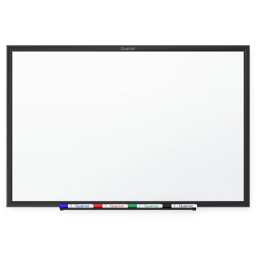 Quartet Standard Whiteboard, 24 x 18 Inches, Black Aluminum Frame (S531B)