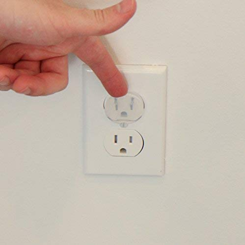 baby products, safety,  electrical safety 8 image Outlet Plug Covers (32 Pack) Clear Child Proof in USA