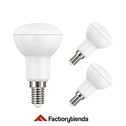 Diluxe LED -Pack X3 Bombillas LED R50, 5W,(equivalente a 50W), casquillo E14,Luz Cálida, 400 lumen, (no regulable) 120° ángulo de dispersión / 230 ...
