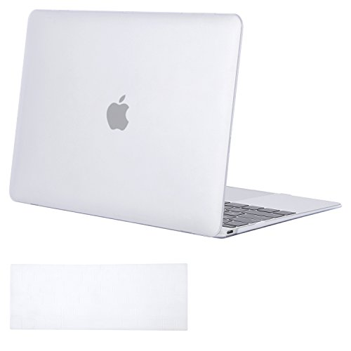 MOSISO Plastic Hard Shell Case & Keyboard Cover Skin Only Compatible with MacBook 12 inch with Retina Display (Model A1534, Release 2017 2016 2015), Frost