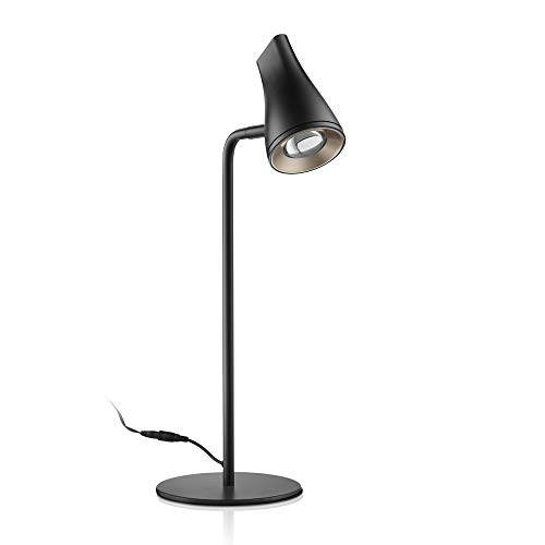 Adjustable LED Desk Lamp, Sleek Table Reading Lamp, Office Desk Light for Working/Studying/Nightstand, Black -