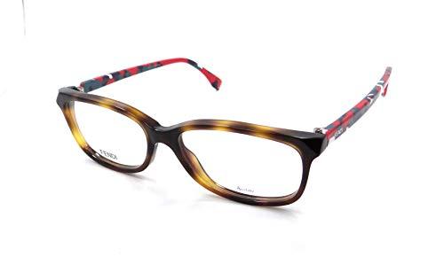 FENDI Eyeglasses 0173 0TTR Havana Mu Light 52MM