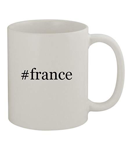 #france - 11oz Sturdy Hashtag Ceramic Coffee Cup Mug, White