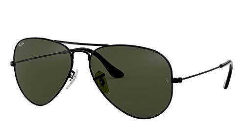 Ray-Ban RB3025 Aviator Sunglasses (58 mm, Gold Metal Frame/Non-Polarized Green G-15 Lens) (Ray-ban Aviator)