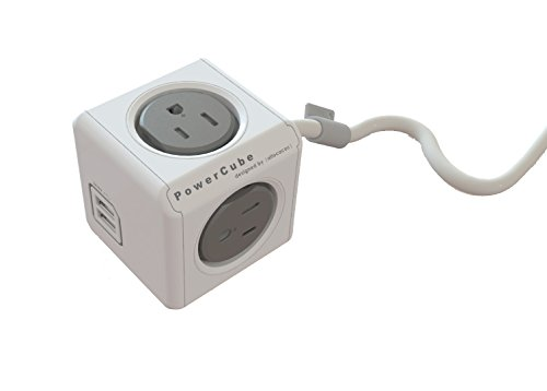 PowerCube  Extra Extended USB, Surge Protector, Electric Out