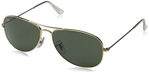 Ray-Ban Cockpit Sunglasses Arista/Crystal Green, One - Ray Sunglasses On Logo Ban