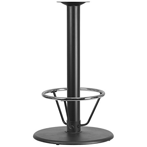 Flash Furniture 24'' Round Restaurant Table Base with 4'' Dia. Bar Height Column and Foot Ring