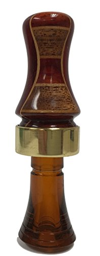 Wood Duck Single Reed - Classy Duck Calls 4l1b Pattern Solid Padauk Inlaid Hardwoods Single Reed