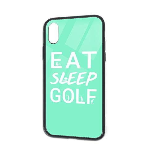Anti-Fall Eat Sleep Golf Soft Silicone TPU Phone Case for iPhone X iPhone Xs
