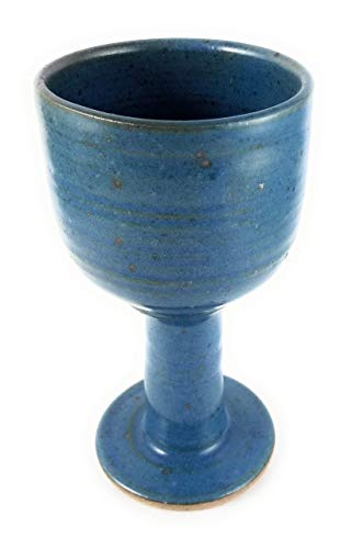 - Sky Blue - Ample Celtic Goblet - Chalice - Hand Made Clay - Beautiful to Display and Marvelous to Use - Food, Microwave, Oven And Dishwasher Safe ()