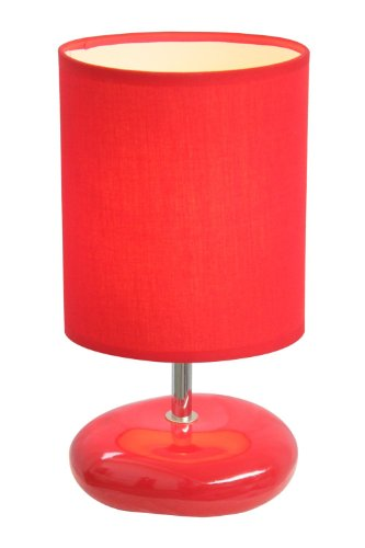 Small Ceramic Table Lamp (Simple Designs LT2005-RED Stonies Small Stone Look Table Lamp, Red)