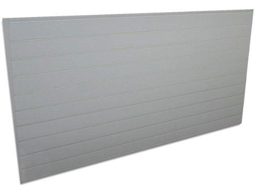 Proslat 88107 Heavy Duty PVC Slatwall Garage Organizer, 8-Feet by 4-Feet Section, Light Grey