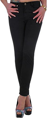 Mujer straightleg Jeans Negro con detalles funda en übergröße 42XL–�?0XXXXXL negro