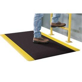 Supreme Sliptech Mat - Apache Mills Supreme Sliptech Mat, 24x36, Black W/Yellow Border