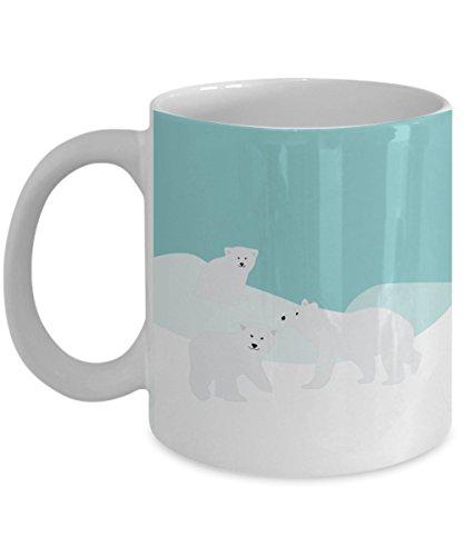 (Polar Bear Mug - Funny Tea Hot Cocoa Coffee Cup - Novelty Birthday Christmas Anniversary Gag Gifts Idea)