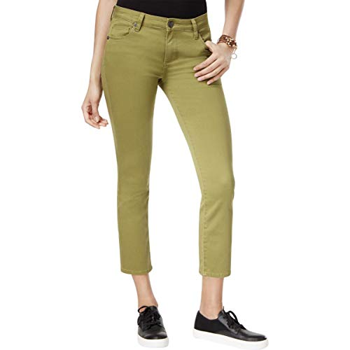 KUT from the Kloth Womens Reese Straight Leg Colored Ankle Pants Green 14