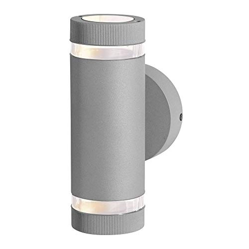 Access Lighting 20385MG-SAT/CLR Poseidon - Two Light Outdoor Wallwasher, Satin Finish with Clear Glass