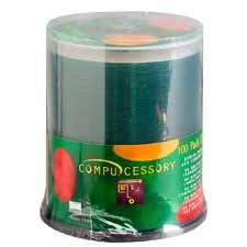 Compucessory CCS72100 CD Recordable Media - CD-R - 52x - 700 MB - 100 Pack Spindle