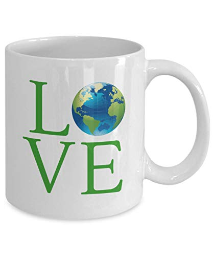 Love Planet Earth Earth Day Science Coffee Mug Gift Global Warming Climate Change Mother Earth Novelty Mug Gift for Environmentalist