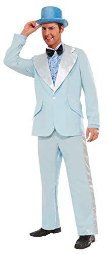 Forum Novelties Men's Instant Zip-Up 50's Tuxedo Costume, Blue, Large